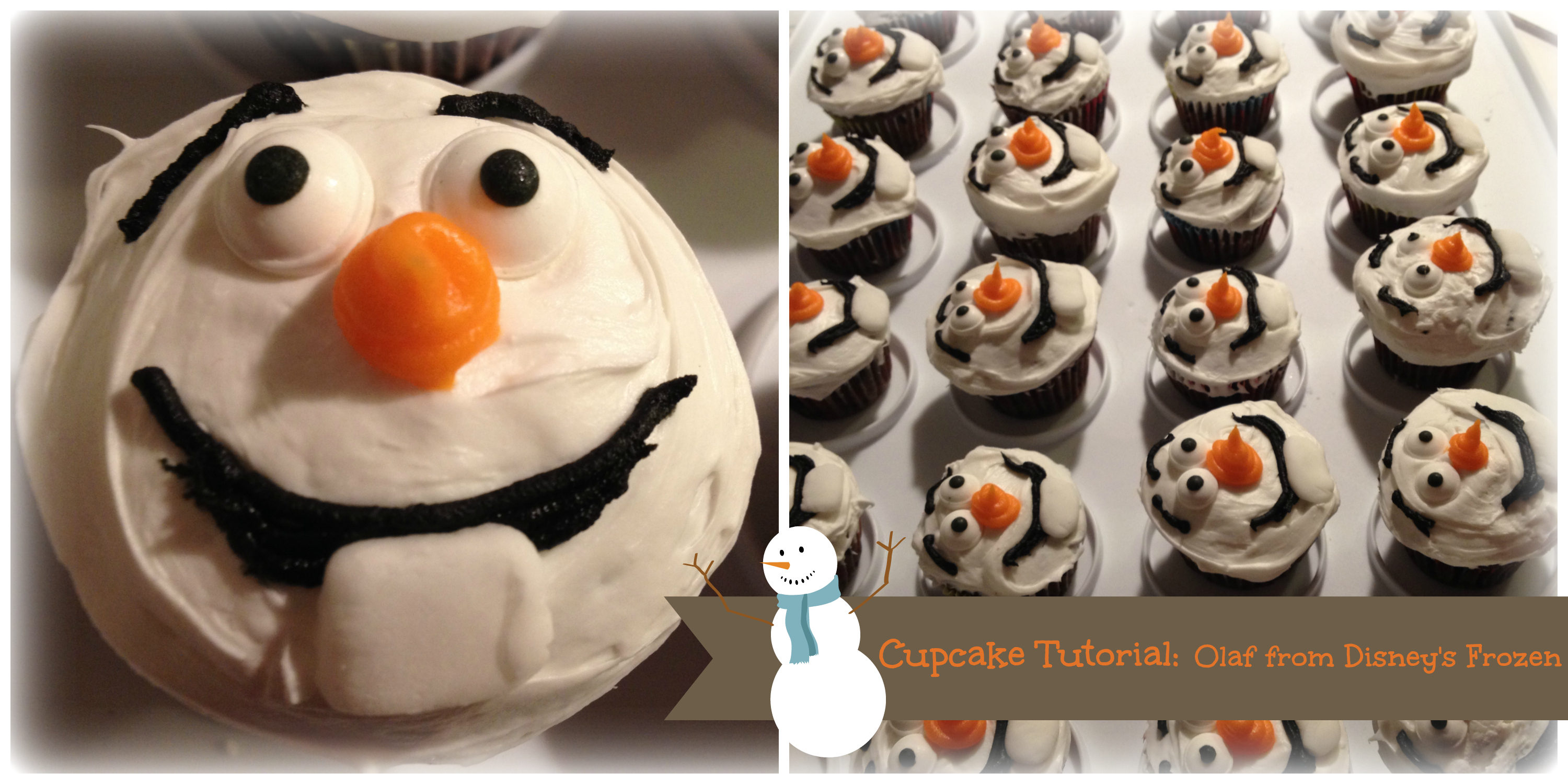 Cupcake Tutorial Olaf From Disney S Frozen Life Love
