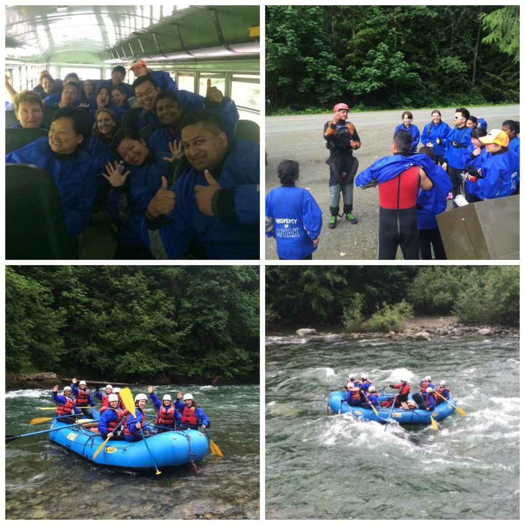YVR Bloggers Rafting Collage at Hyak Rafting on Life Love and the Pursuit of Play