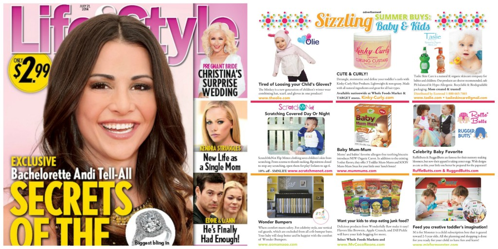 Taslie Skin Care featured as a top summer pick in July 11th's issue of Life & Style Magazine.