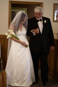 Walking down the aisle with my Dad