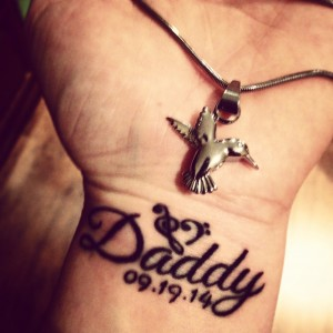 Daddy Tattoo and Memoria Necklace