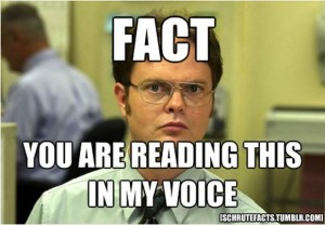 Dwight-Schrute- you are reading this in my voice meme