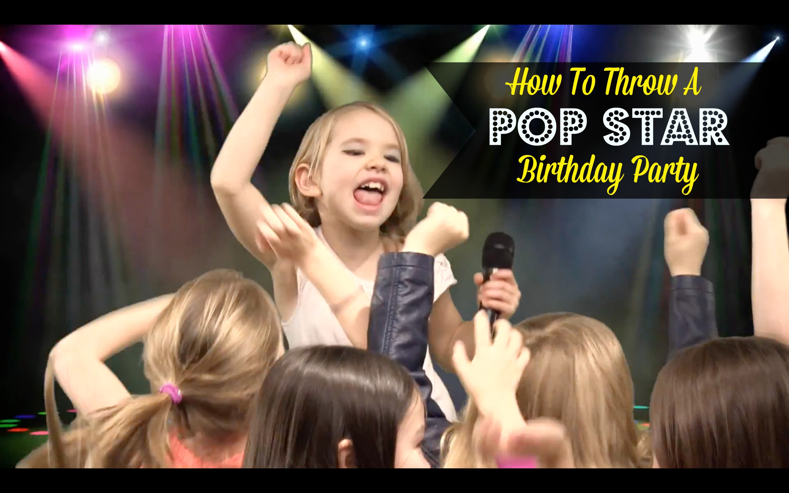 Pop Star Themed Birthday Party